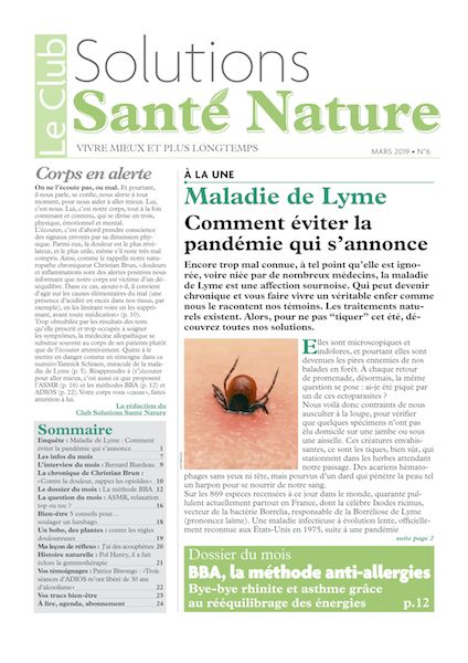 couvertureclubsolutionssantenature mars2019 byebyeallergies
